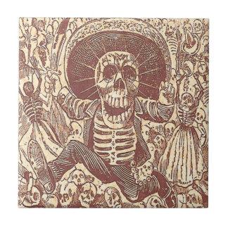 Vintage Skeleton Party Tile