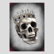 Vintage Skeleton Queen Halloween Party Invitation