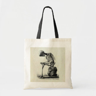 Vintage Skeleton Thinker Tote Bags