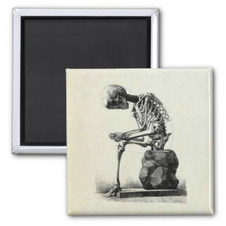 Vintage Skeleton Thinker Magnet