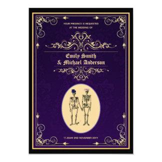 Vintage Skeleton Wedding Engagement Rehearsal Invitation