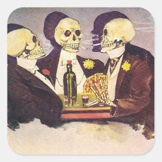 Vintage Skeletons Square Sticker