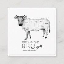 Vintage Sketch Butcher Cow Business Card