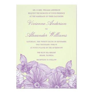 VINTAGE SKETCH FLOWERS | WEDDING INVITATION