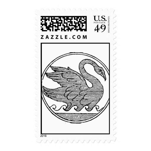 Vintage sketch.png dentado del cisne sellos