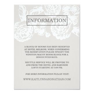Vintage Sketched Botanical | Grey Information Card