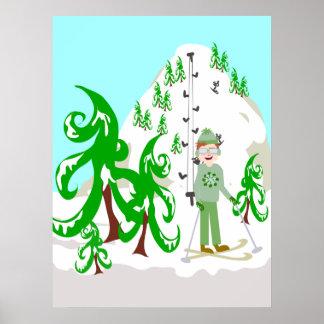 Vintage Ski Bum Poster