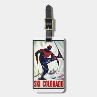 Vintage Ski Colorado Bag Tag