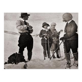 Vintage ski  image,  Dressed for the pistes Postcard