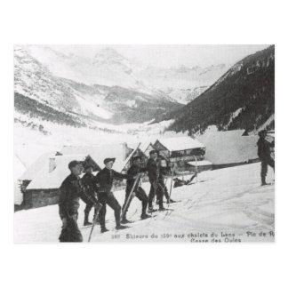 Vintage Ski,  Pic de Roche Postcard