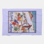 Vintage Ski Poster, Arlberg, St Anton Hand Towels