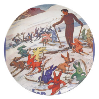 Vintage Ski Poster, Arlberg, St Anton Plate