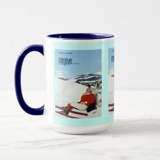 Vintage Ski Poster, France, Savoie, Megeve Mug