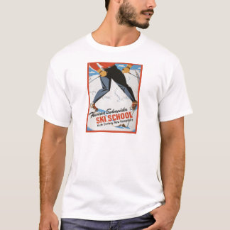 Vintage ski poster, Hannes Schneider Ski School T-Shirt
