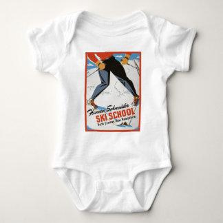 Vintage ski poster, Hannes Schneider Ski School Tee Shirts