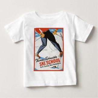 Vintage ski poster, Hannes Schneider Ski School Shirt