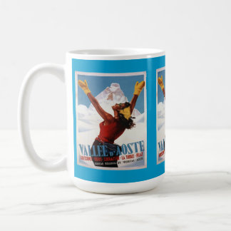 Vintage Ski Poster,  Italy, Val d'Aosta Coffee Mug
