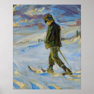 Vintage Ski poster,  Nordic skiing
