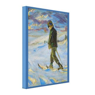Vintage Ski poster, Nordic skiing Canvas Prints