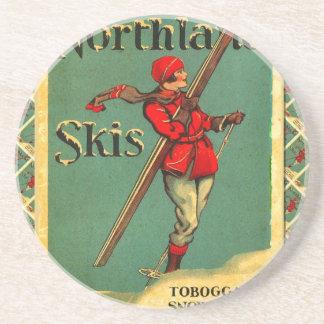 Vintage Ski Poster Northland Skis Coasters
