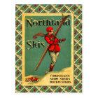 Vintage Ski Poster,  Northland Skis Postcard