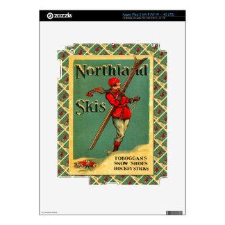 Vintage Ski Poster,  Northland Skis iPad 3 Skins