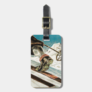 Vintage Ski poster, Norway, the home of skiing Luggage Tags