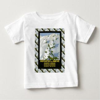 Vintage Ski poster, Picos de Europa, Spain Baby T-Shirt