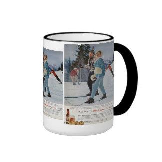Vintage Ski Poster,  Rheingold beer Ringer Coffee Mug