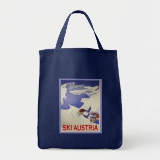 Vintage Ski Poster, Ski Austria Tote Bag