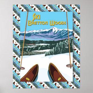 Vintage Ski poster Ski Bretton Woods