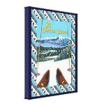 Vintage Ski poster,  Ski Bretton Woods Stretched Canvas Print