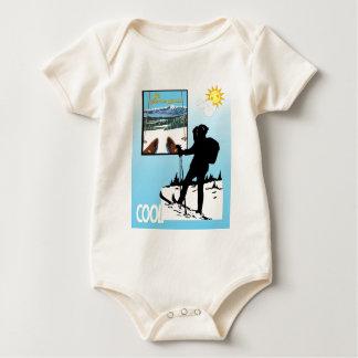 Vintage Ski Poster,  Ski Bretton Woods Baby Bodysuits