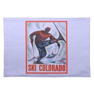 Vintage ski poster, Ski Colorado Placemat