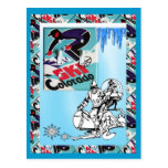 Vintage Ski Poster, Ski Colorado Postcard