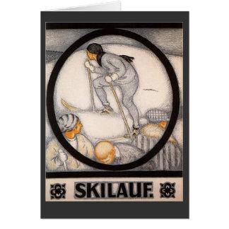Vintage ski poster,   Ski Lauf Card