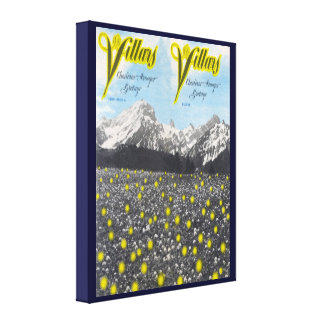 Vintage Ski Poster,  Ski Villars Canvas Print