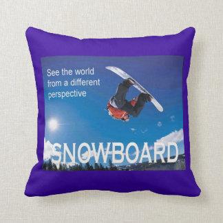 Vintage Ski Poster, Snowboard Pillow
