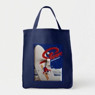 Vintage ski poster,   Stowe, Vermont Tote Bag