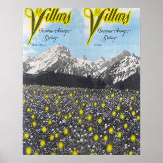 Vintage Ski poster, Villars Poster