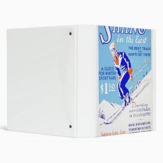 Vintage Skiing in the East WPA Poster Binder
