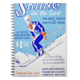 Vintage Skiing in the East WPA Poster Spiral Notebook