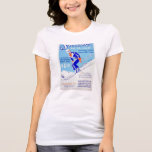 Vintage Skiing in the East WPA Poster T-Shirt