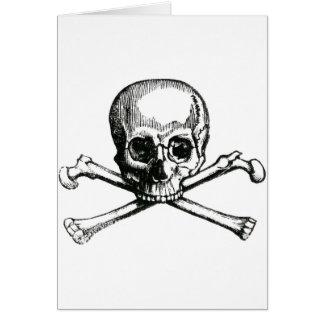 Vintage Skull and Crossbones Card