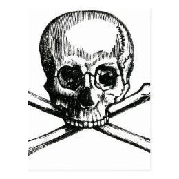 Vintage Skull and Crossbones Postcard