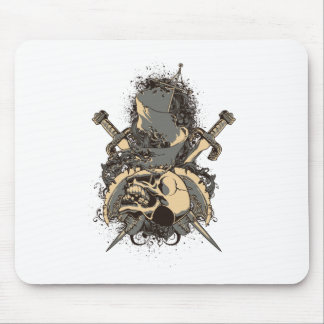 vintage skull and dagger design vector mouse pad