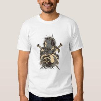 vintage skull and dagger design vector t-shirt