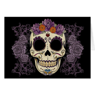 Vintage Skull and Roses Cards