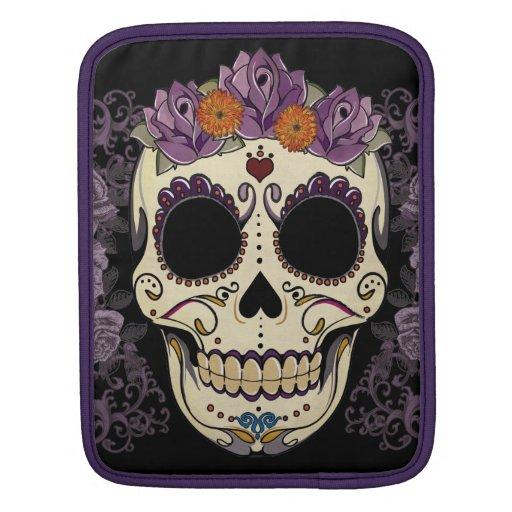 Vintage Skull and Roses iPad Sleeve