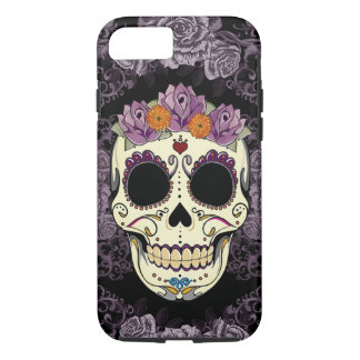 Vintage Skull and Roses iPhone 7 Tough iPhone 7 Case